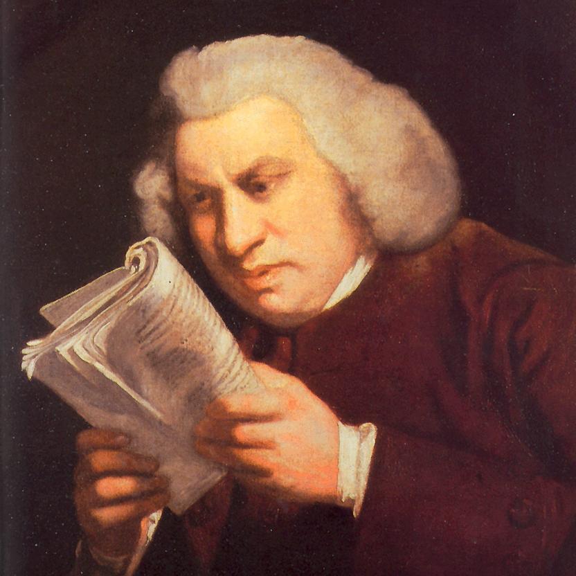 Retrato de Samuel Johnson,  de Joshua Reynolds, 1775