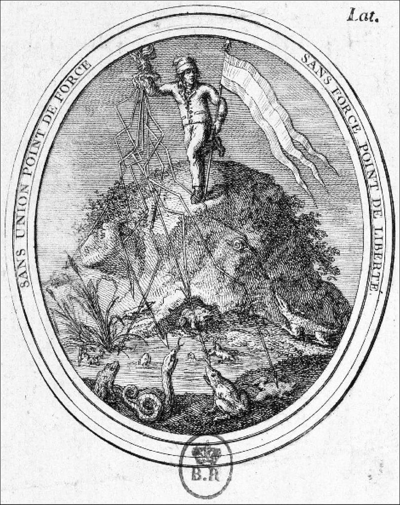 Sans union point de force, sans force point de liberté  (1793