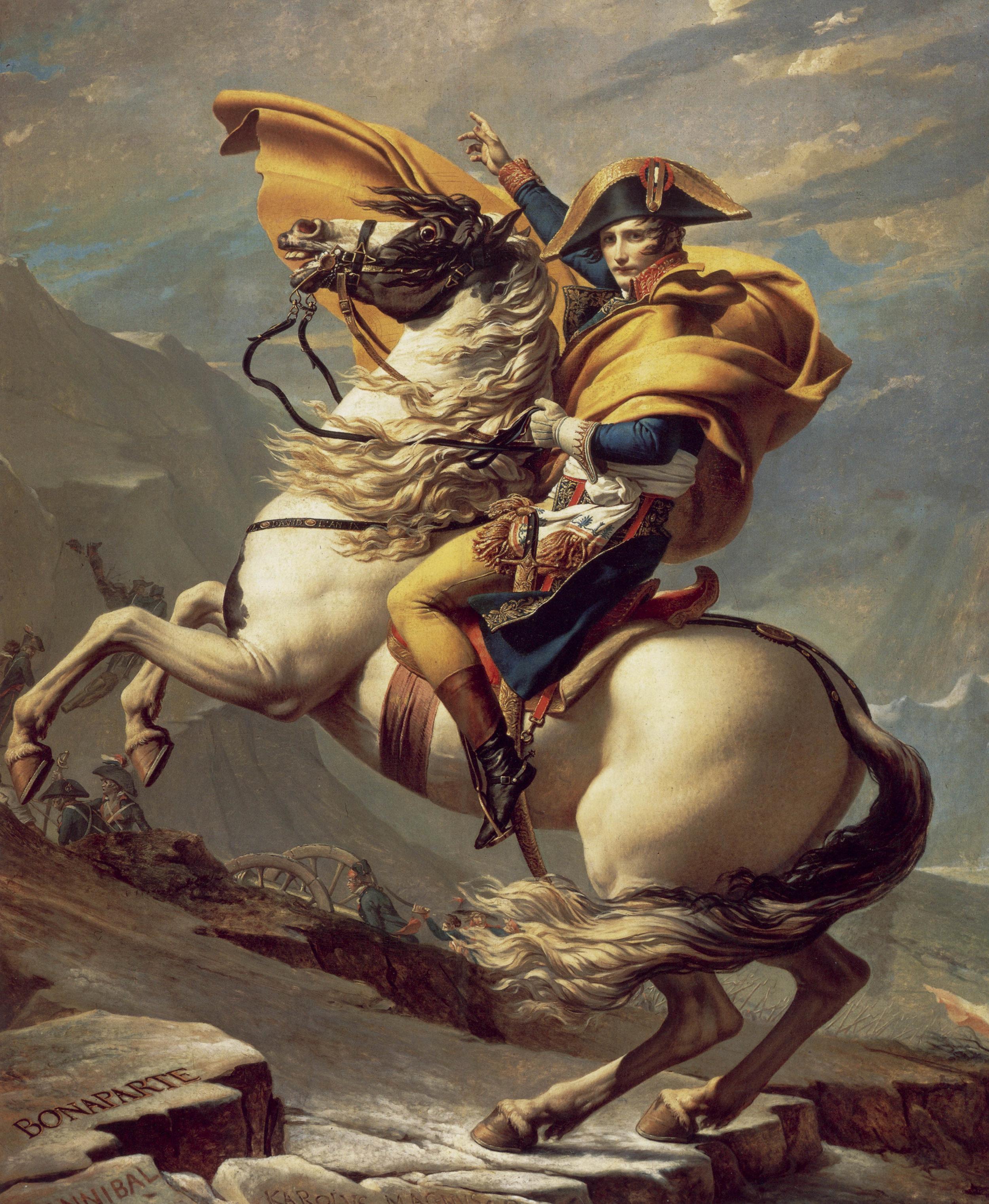 Napoleón cruzando los Alpes, de Jacques-Louis David, 1801