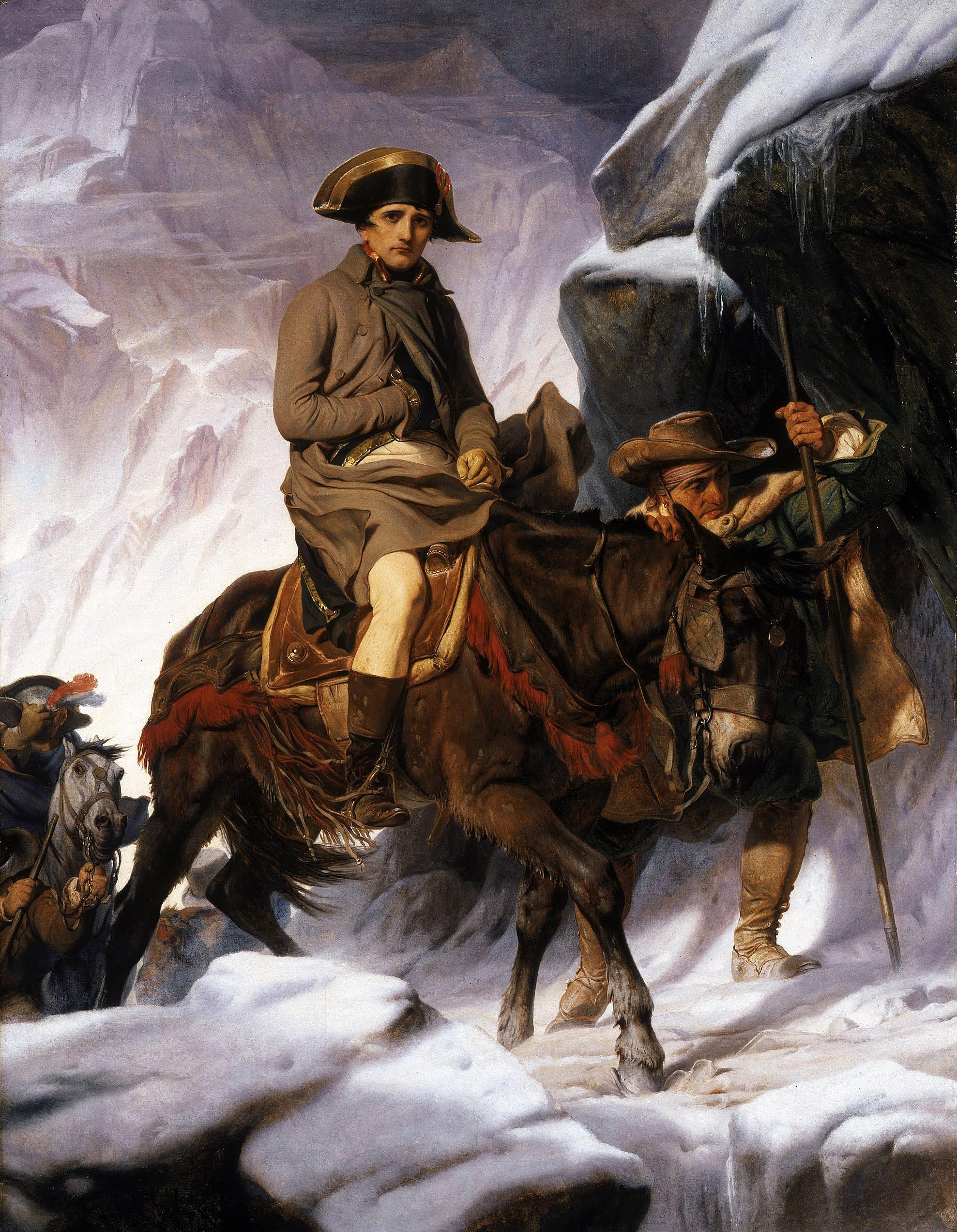 Napoleón cruzando los Alpes, de Paul Delaroche, 1850