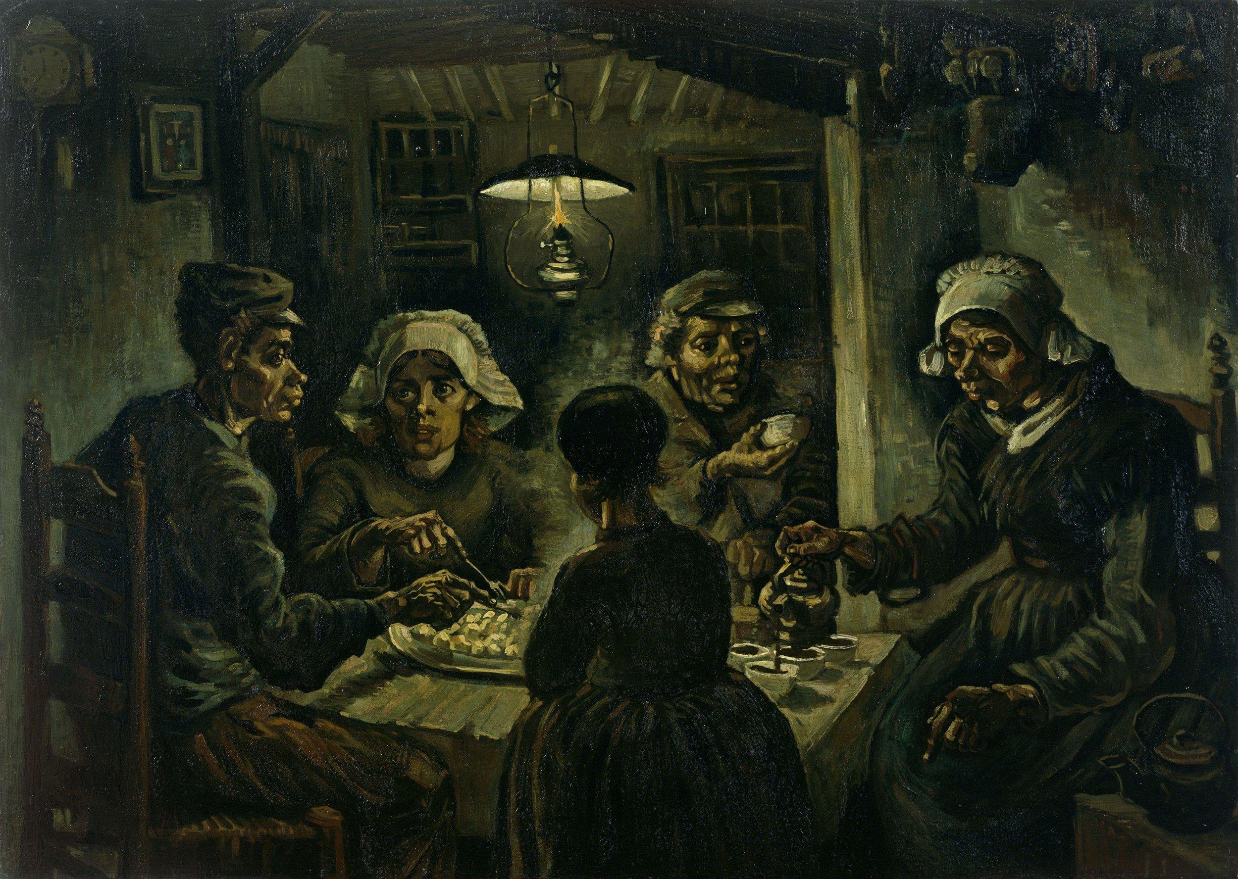 Los comedores de patatas, de Vincent Van Gogh, 1885
