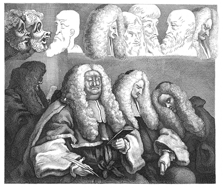El estrado  (inacabado), de William Hogarth, 1758 (1764)