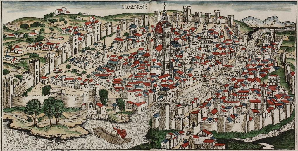 Vista de Florencia, de Hartmann Schedel, 1493