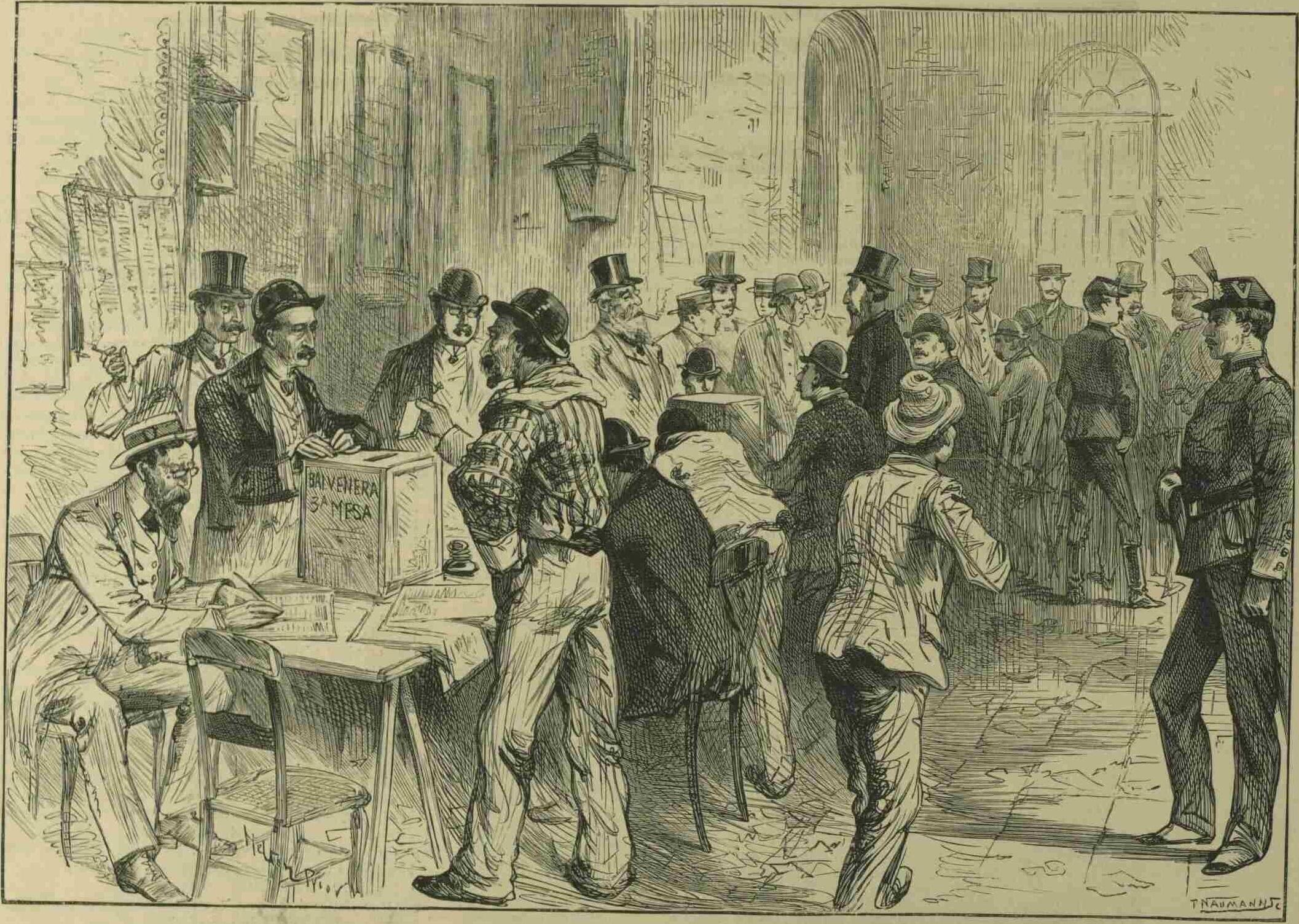 Elecciones en Buenos Aires, de Meltron Prior, 1892