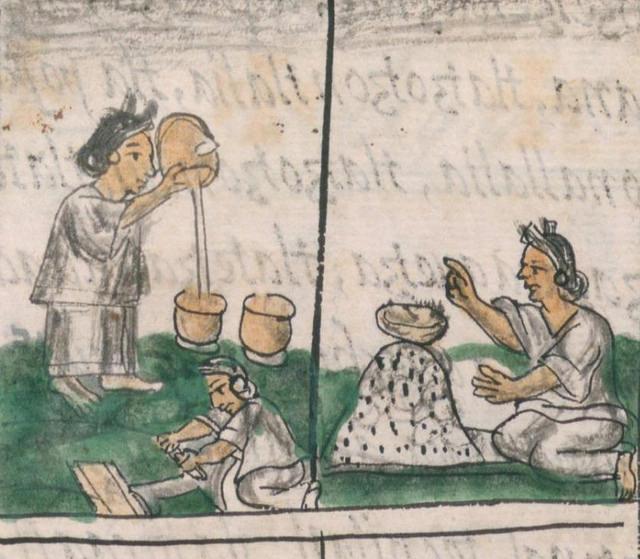 Detalle de una página de la  Historia general de las cosas de nueva España , Libro X, Folio 69, verso, de Fray Bernardino de Sahagún