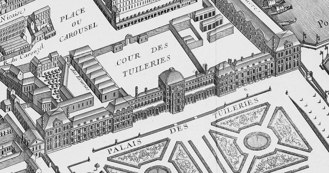 Palacio de las Tullerías, de Louis Bretez (cartógrafo) y Claude Lucas (grabador), 1739