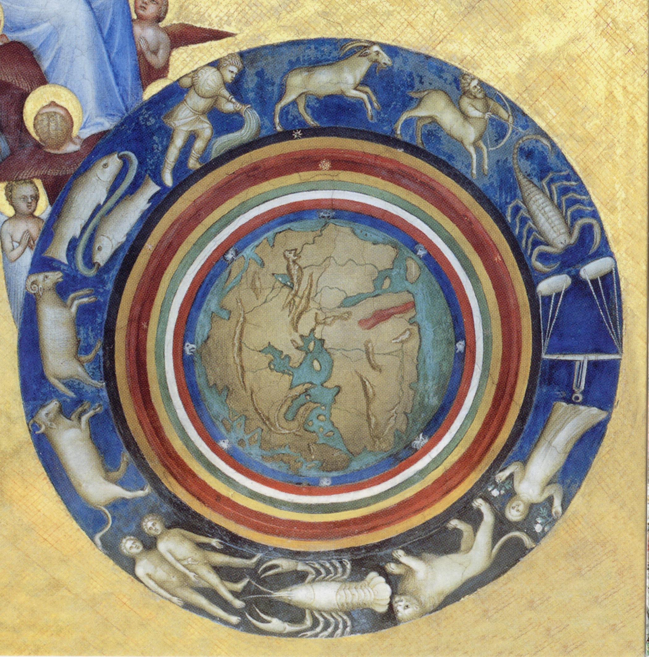 Creación  (detalle), de Giusto de Menabuoi, 1376-1378