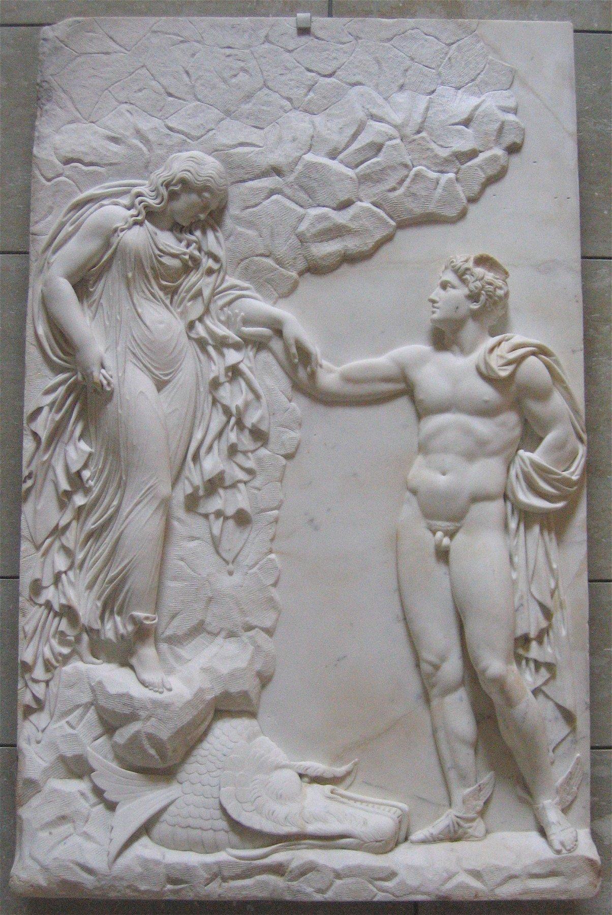 Perseo y Andrómeda,  de Julius Troschel, c. 1840-1850 ( fuente )