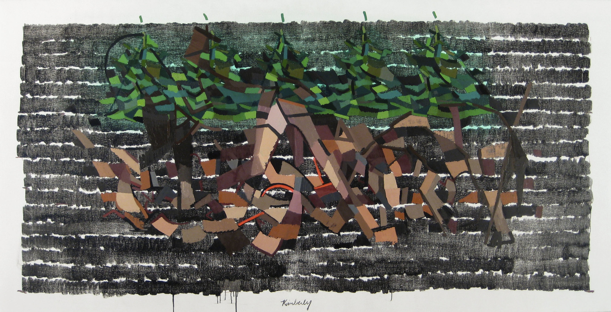 """Language  , Oil on Canvas, 36"""" x 72,"""" 2013, Available for Purchase"""
