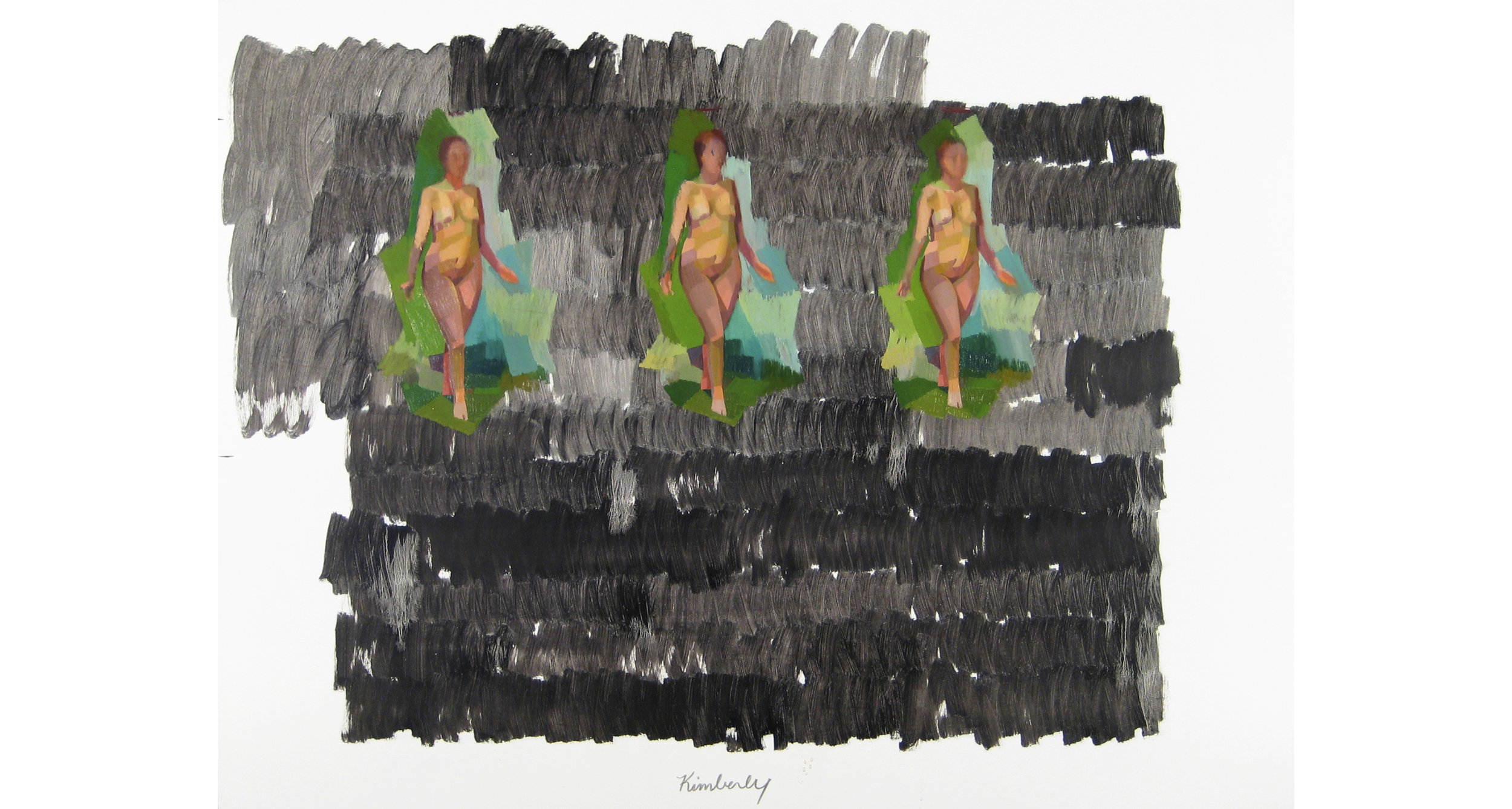 """Woman, Woman, Woman  , Oil on Canvas, 36"""" x 48,"""" 2013. Private Collection."""