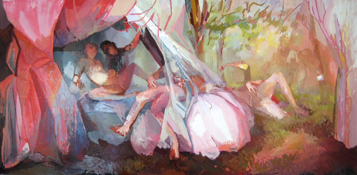 """Arcadia  , Oil on Canvas, 90"""" x 168,"""" 2009.Available for Purchase."""