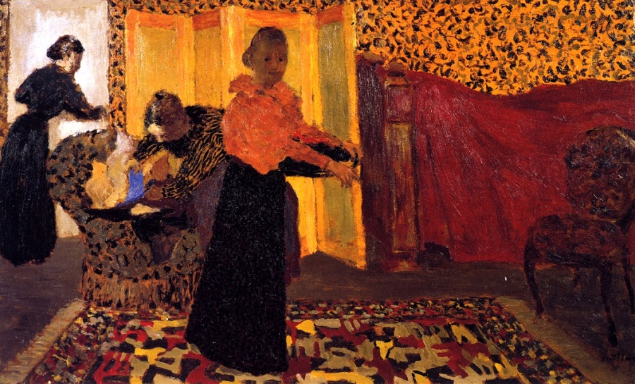 37 Jean Édouard Vuillard (French artist, 1868-1940) Interior with Red Bed (also known as The Bridal Chamber) 1893.jpg