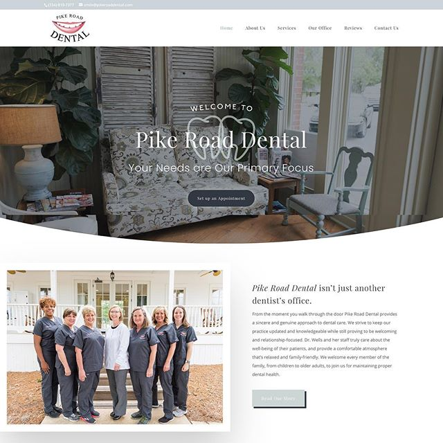 All smiles for the latest website launch for Pike Road Dental! Start swiping to see a fun homepage for this boutique dental practice🦷😁