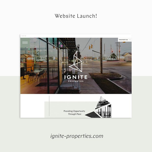 L A U N C H day for @ignite.properties ✨ Adam Thrower is the master mind behind Ignite Properties, and he seeks to serve every tenant by providing opportunity through place. Blending a knowledge for sustainable construction with a passion for architecture, Ignite provides their businesses with a place to call home. ✨Branding by @sarah_robins_powell ✨Website Copy by @haydensentenn  To see the website live click on the link in our bio!