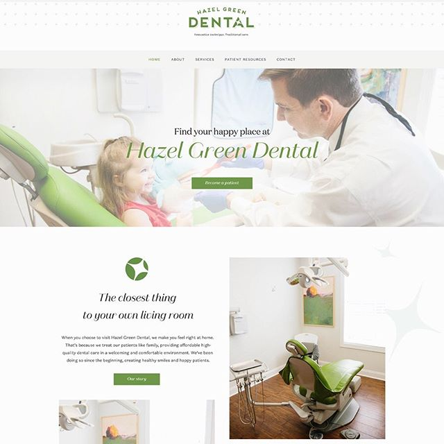 ✨ L A U N C H E D ✨ Hazel Green Dental is located no where other than in Hazel Green, AL. This dentistry serves their community and makes every patient feel right at home! We created a custom Squarespace website that will help tell their story, educate their community about their services, and give their patients virtual access to resources. ✨The beautiful branding was brought to life by @sarah_robins_powell ✨ @fetch.marketing are the Marketing gurus helping the team of Hazel Green Dental ✨Link in Bio✨