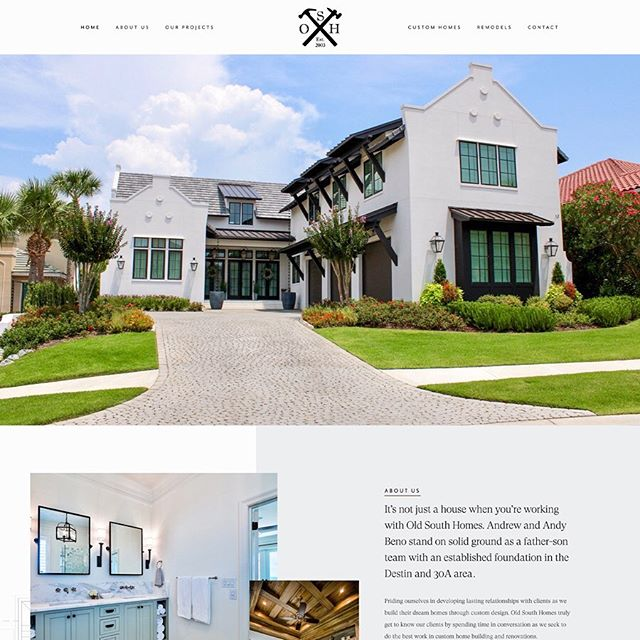 It is a happy L A U N C H day for @old_south_homes ✨ We are so excited this website is ready to reveal! Andrew and his dad, Andy, are the faces and hearts behind this custom home building company in Destin, FL. We had the privilege to work with Andrew to bring this entire project to life! He and his dad put so much heart into the homes they build, and it shows every time. ✨Copywriting by our one and only gal @haydensentenn ✨ Link in bio!