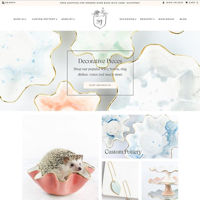 L A U N C H E D ✨The custom Shopify website for @susangordonpottery is officially LIVE! This incredible client has her very own website that has been thoughtfully designed to fulfill every need she has! Working with Susan and her incredible team (talking to you, sweet Tessa!) has been a dream. Not to mention it was another opportunity to work with our peeps at @fetch.marketing ! Link in bio to shop all things Susan Gordon Pottery✨✨✨ Marketing: @fetch.marketing Photography: @art_graciela_ Branding: @hollychollon Website: @mmodernweb