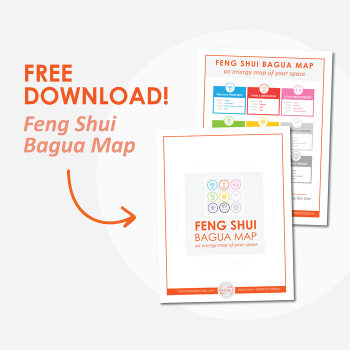 subscribe to get your bagua map pdf - Please reach out if you need help applying the Bagua map to your space. If you're not in the NY Tri-State area, I also offer virtual Feng Shui consultations where we can chat over video and have a face to face consultation. To read about my Feng Shui services visit the services page.