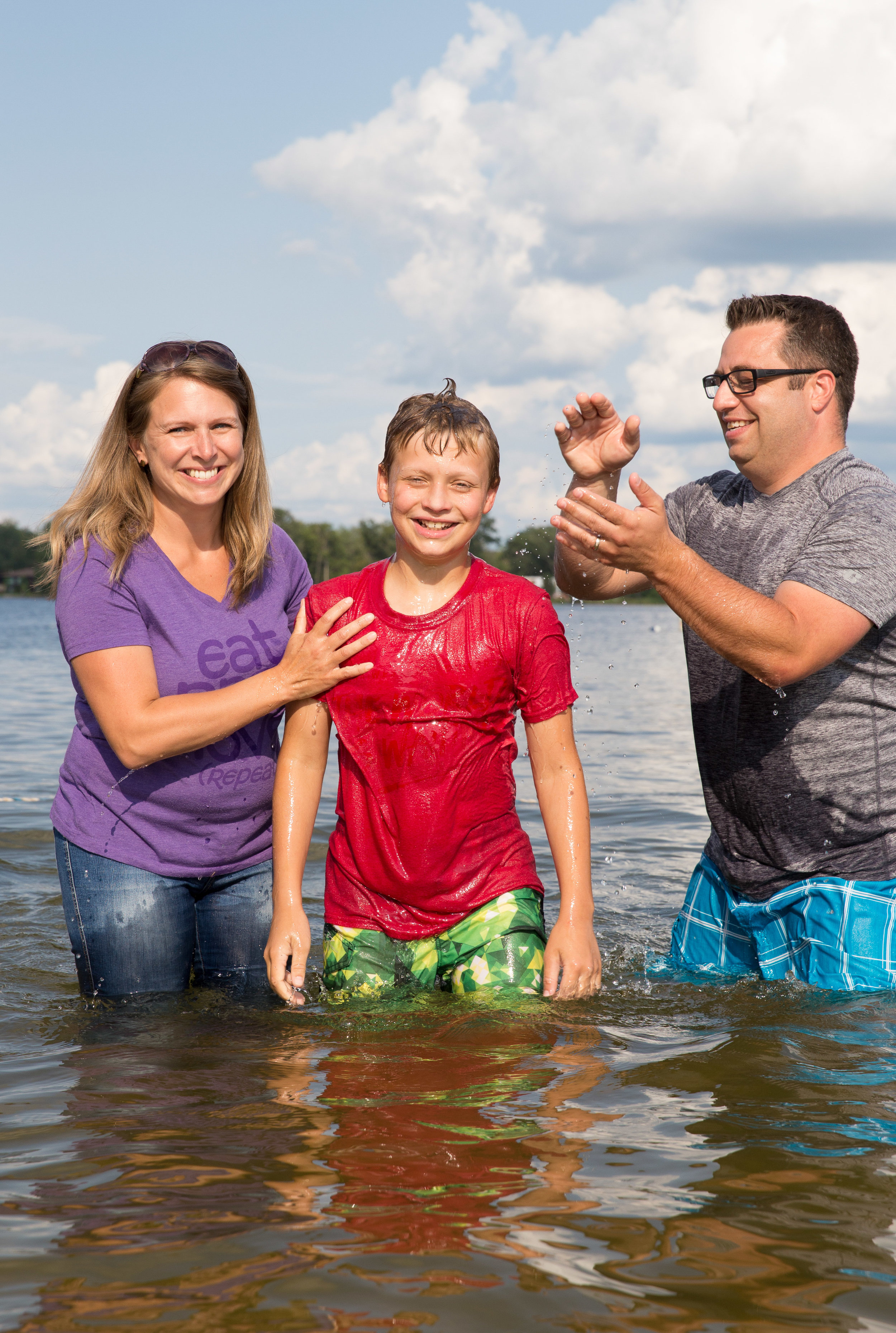 Baptism at Lake Lansing_Son with Parents_Tania Howard Photography.jpg