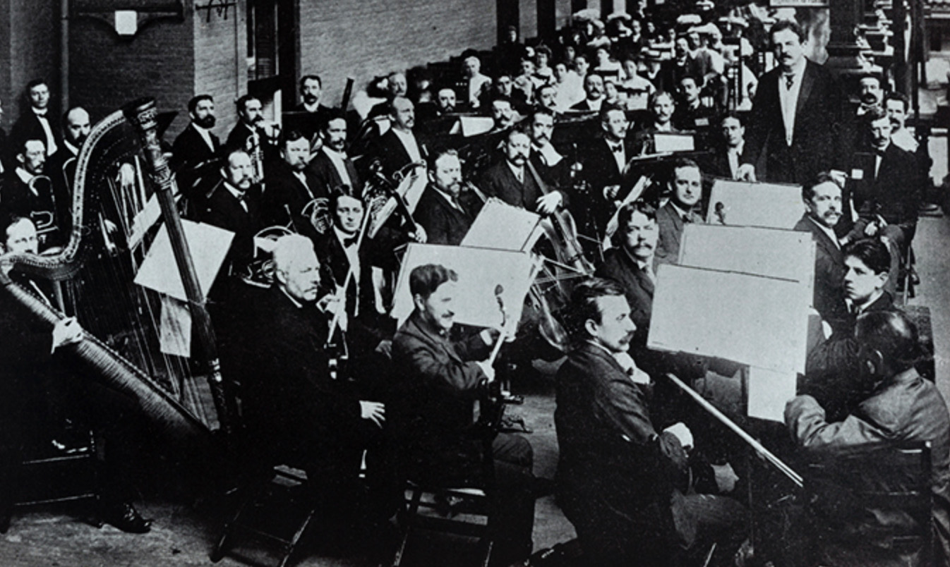 Victor Herbert and orchestra, circa 1900