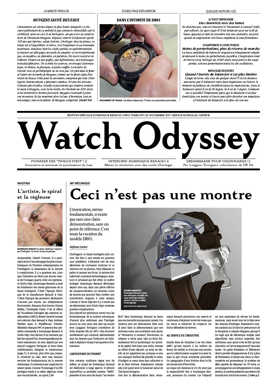 Cahier spécialDominique Renaud - FrançaisEnglish