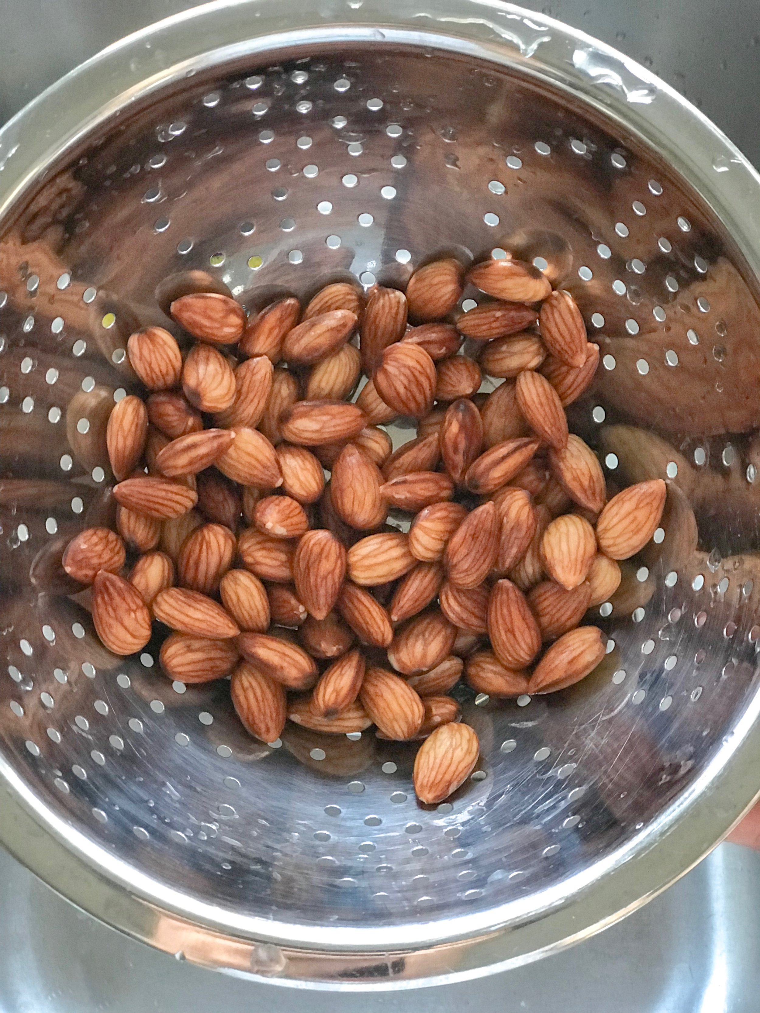rinse almonds beofre blending -