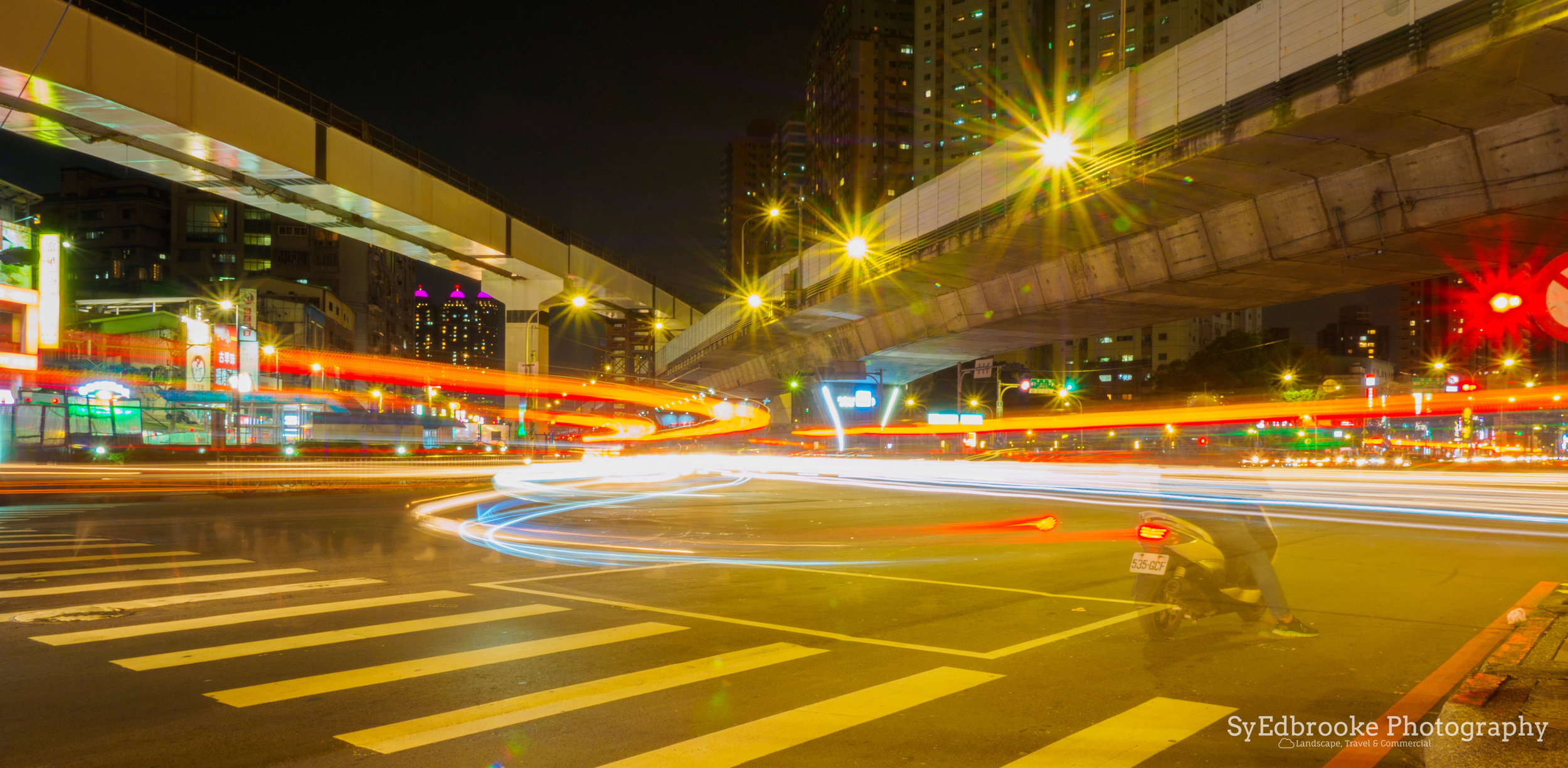 The intersection 2 mins walk from my house. f22, ISO 200, 25, 24mm