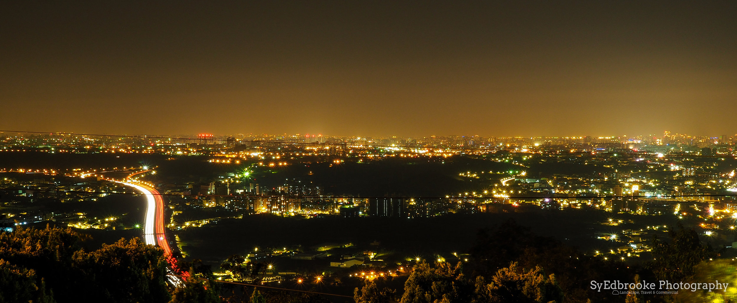 A night view from the Bell. f13, ISO 200, 60, 35mm (stitched)