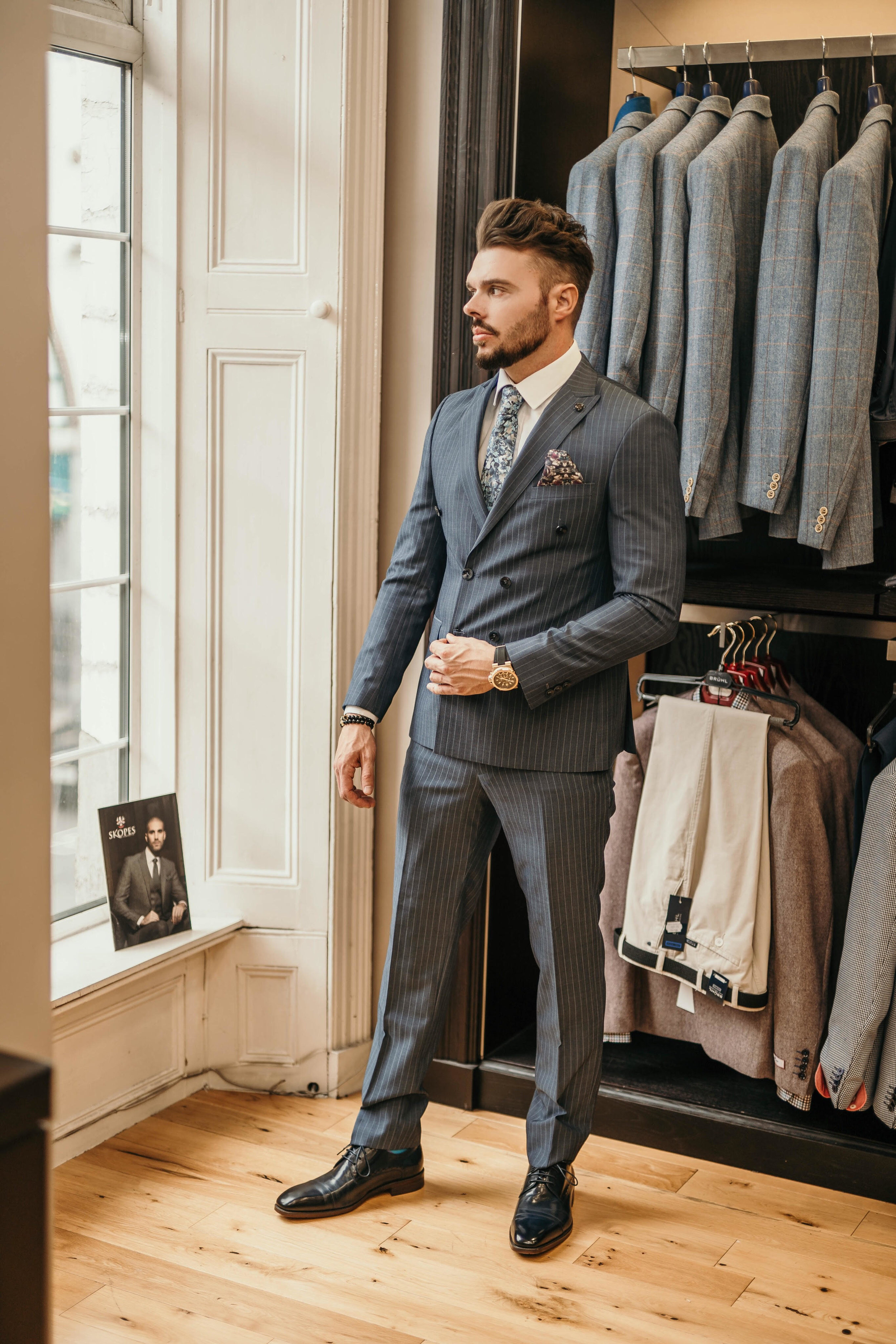 This Benetti double-breasted suit is available from Connolly Men in Limerick.