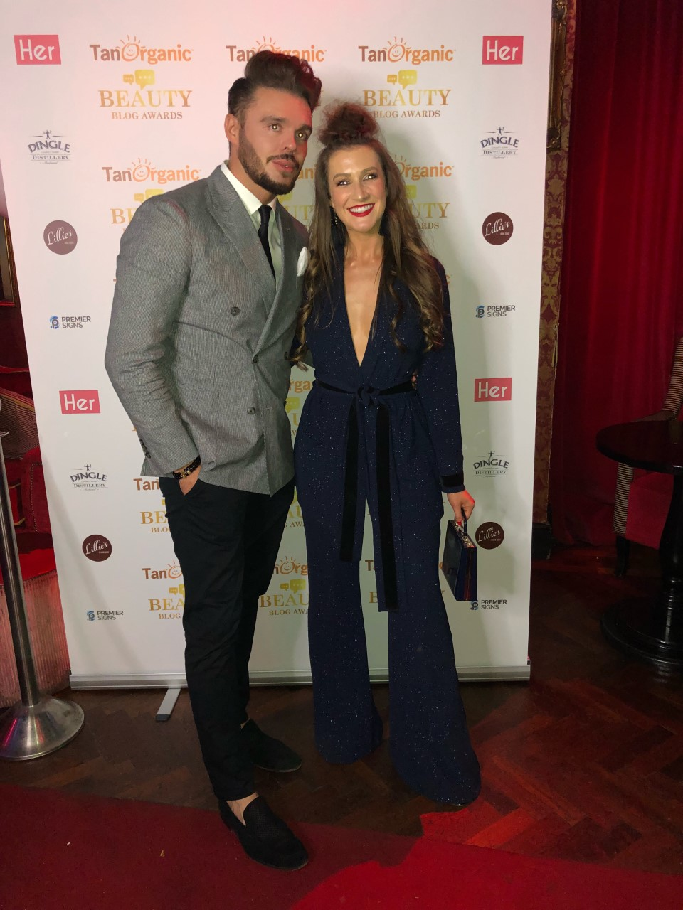 With Rebecca Rose Quigley at The Beauty Blog Awards