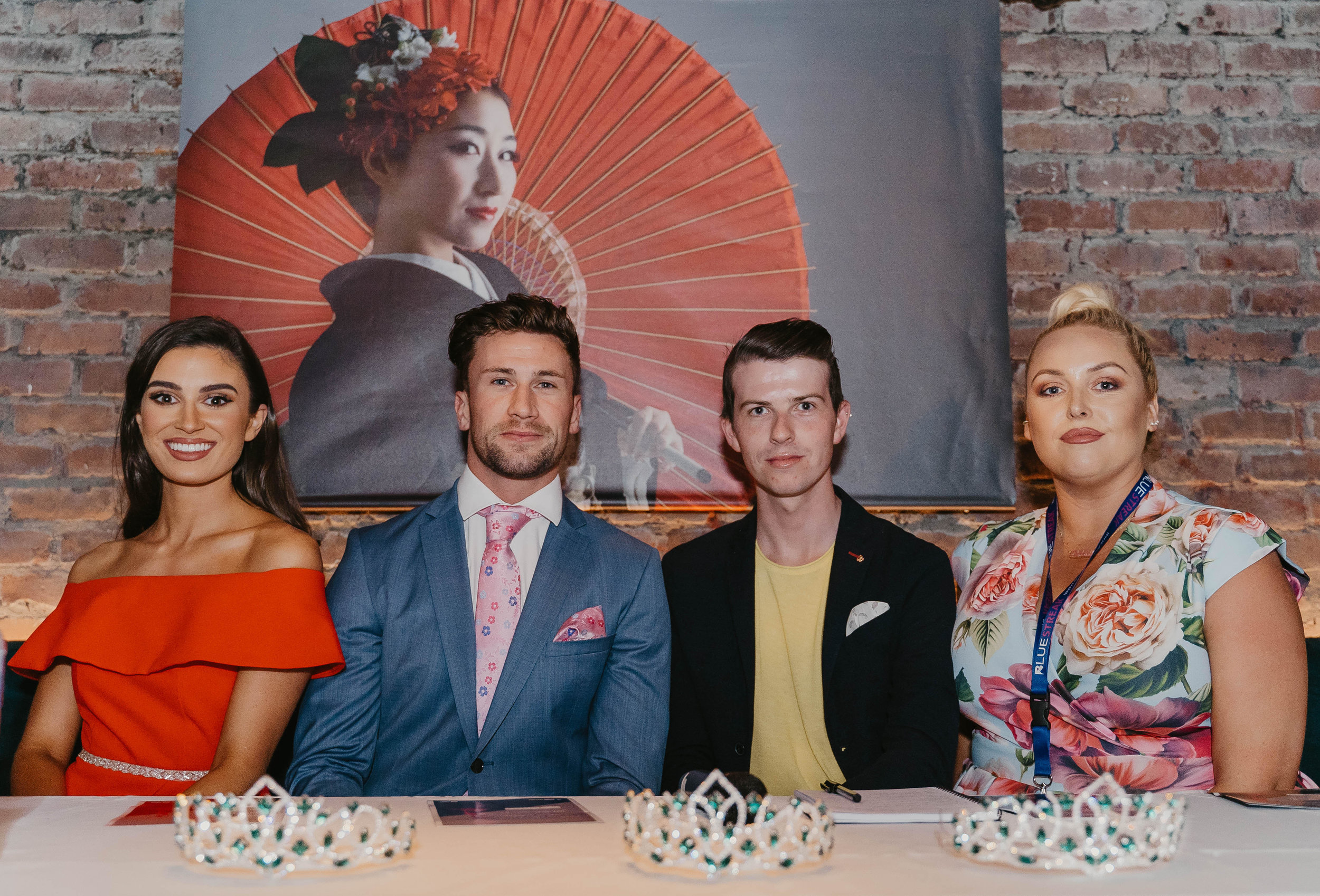 Miss Ireland 2018 Aoife O'Sullivan, Mr Ireland Wayne Walsh, Mikie O'Loughlin & Sinead O'Brien.