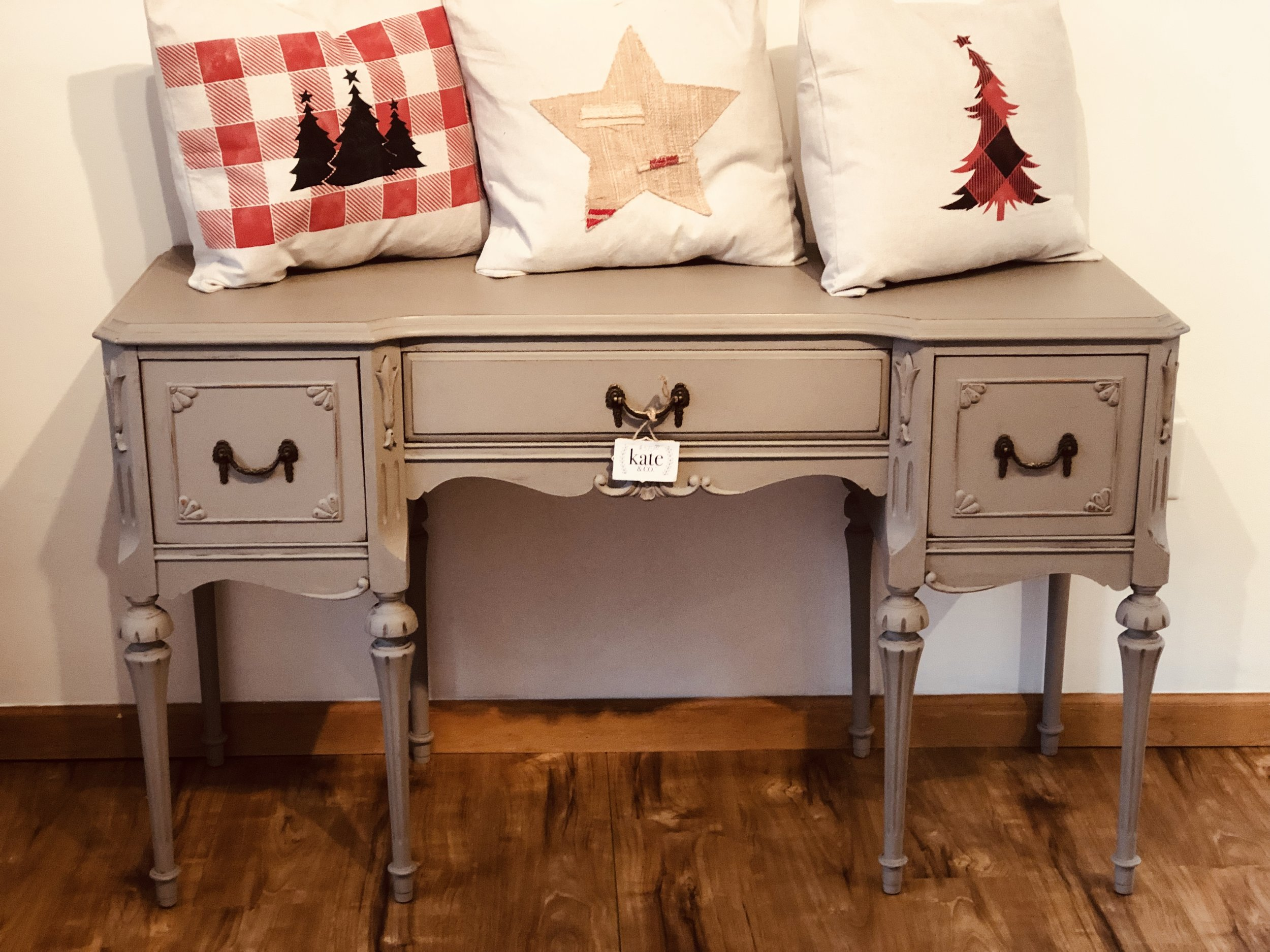 This beauty is waiting for your home. Annie Sloan Chalk Paint in French Linen and sealed with soft wax and distressed.  $375.00 December 2018