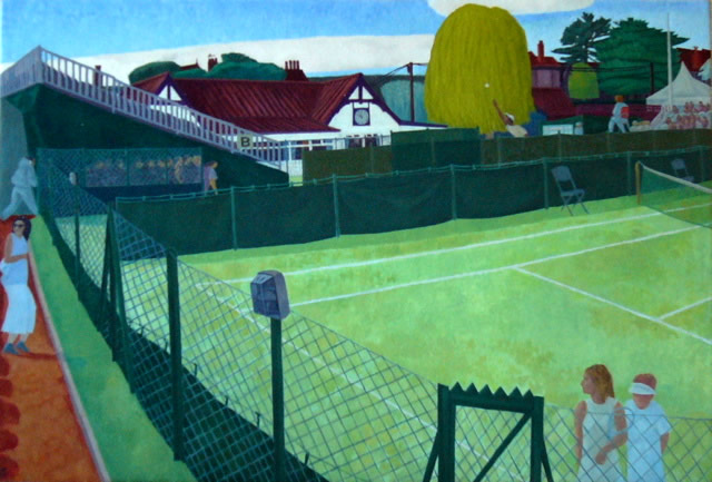 Surbiton Tennis Club (Oil - 2007) 41x60cm
