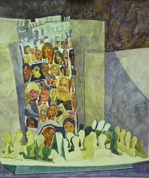 Paper Babel (2008 - Watercolour - 60x45cm)