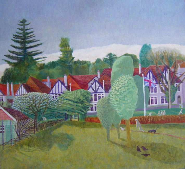 Near the Croquet Club (2010 - Acrylic - 37x41cm)