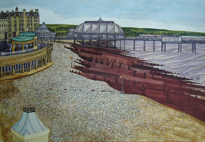 Pier (2010 - Mixed Media - 38x54cm)