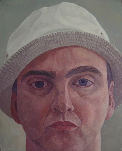 Man in Hat (2011 - Oil - 25x31cm)