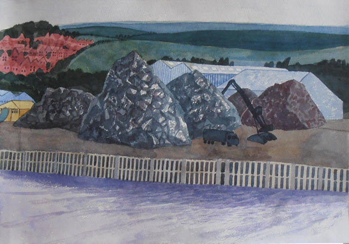 Newhaven Mounds (2013 - Watercolour - 25x36cm)
