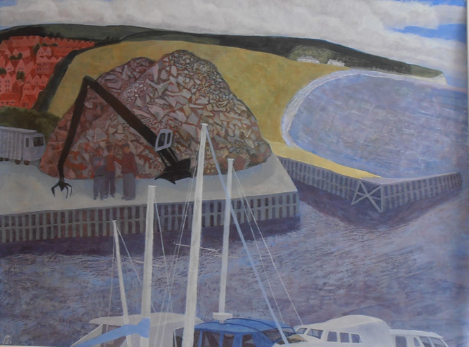 Newhaven Harbour (2013 - Egg Tempera - 45x62cm)