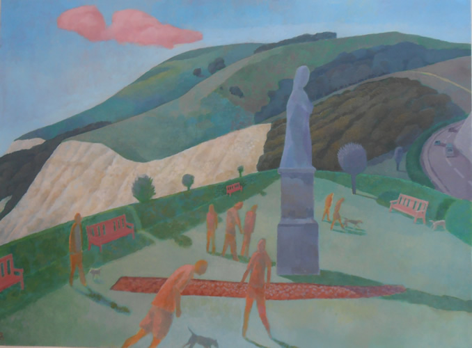 Walkies on the downs (2013 - Acrylic - 56x76cm)