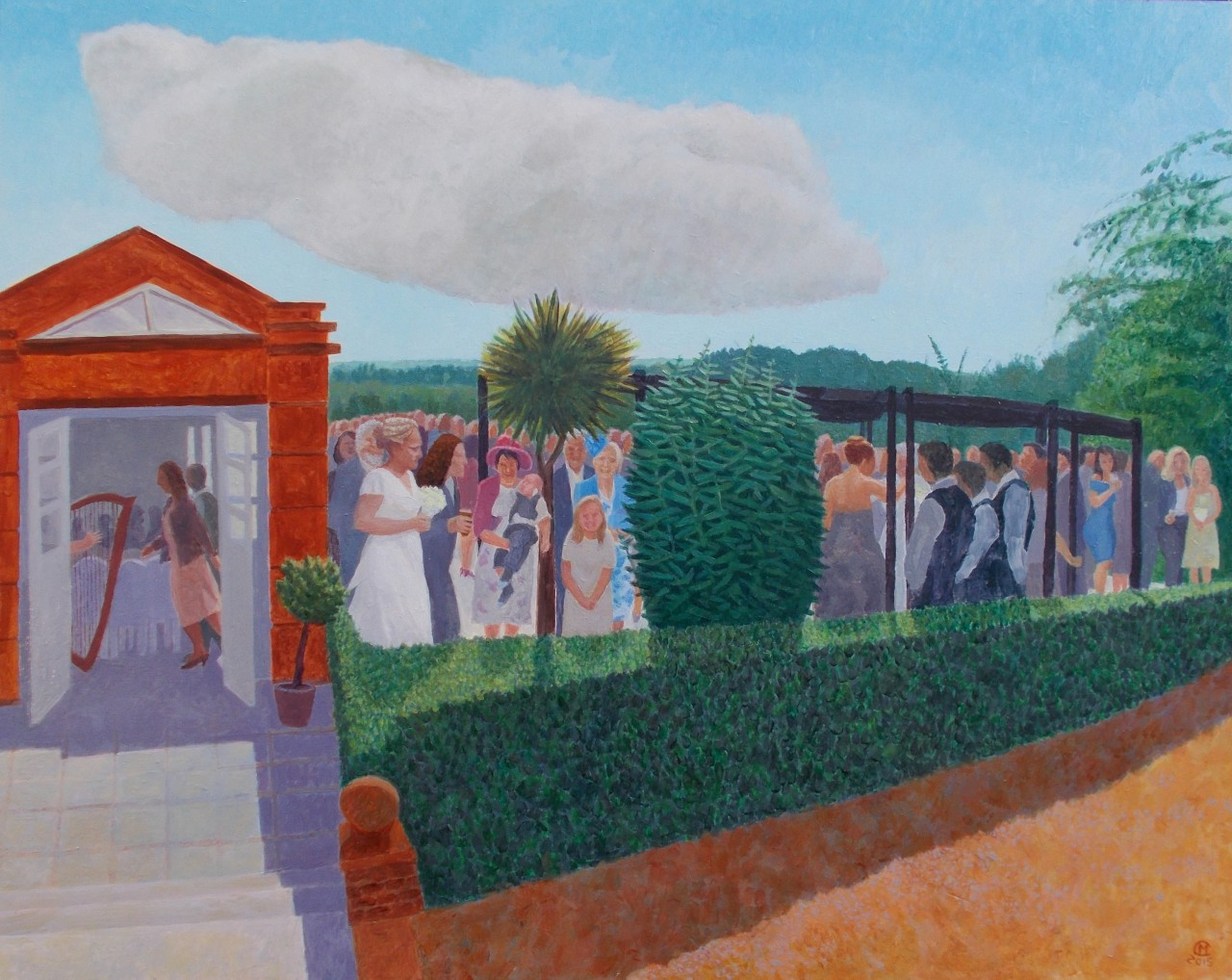 Wedding in Richmond (2015 - Oil on Board)