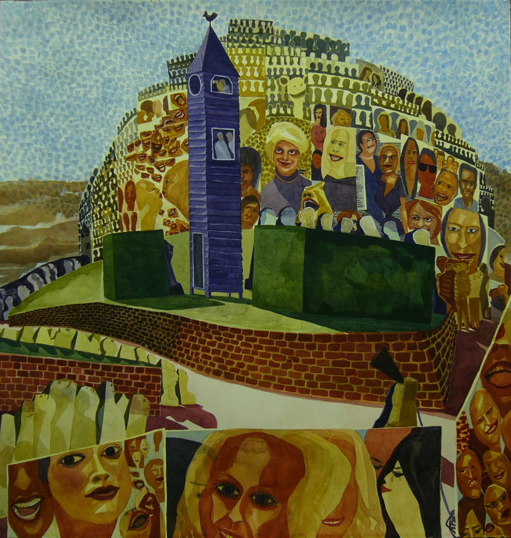 Towers of Babel finished (2007 - Watercolour)