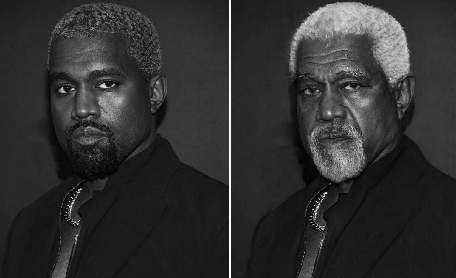 FACE APP applied on Kanye West