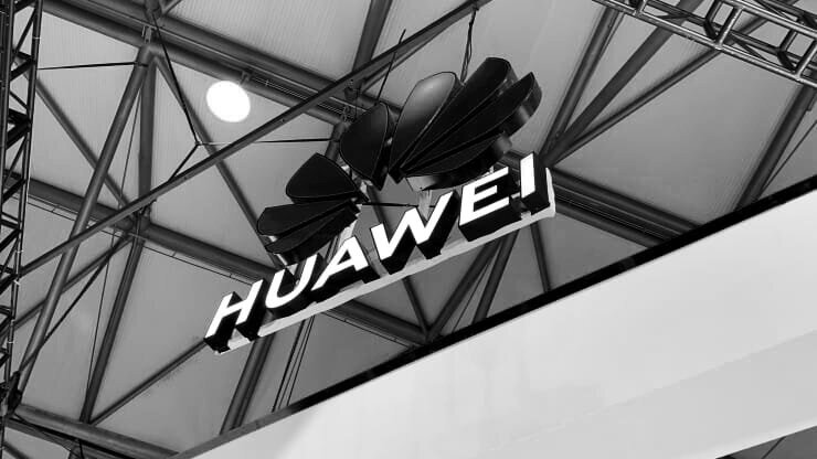 A Huawei logo on display at MWC Shanghai in June 2019
