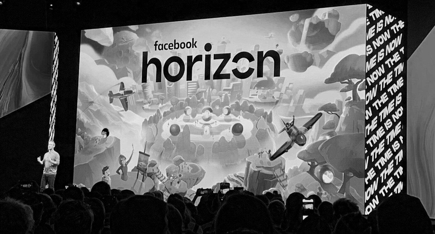 Mark Zuckerberg presenting Facebook Horizon virtual world
