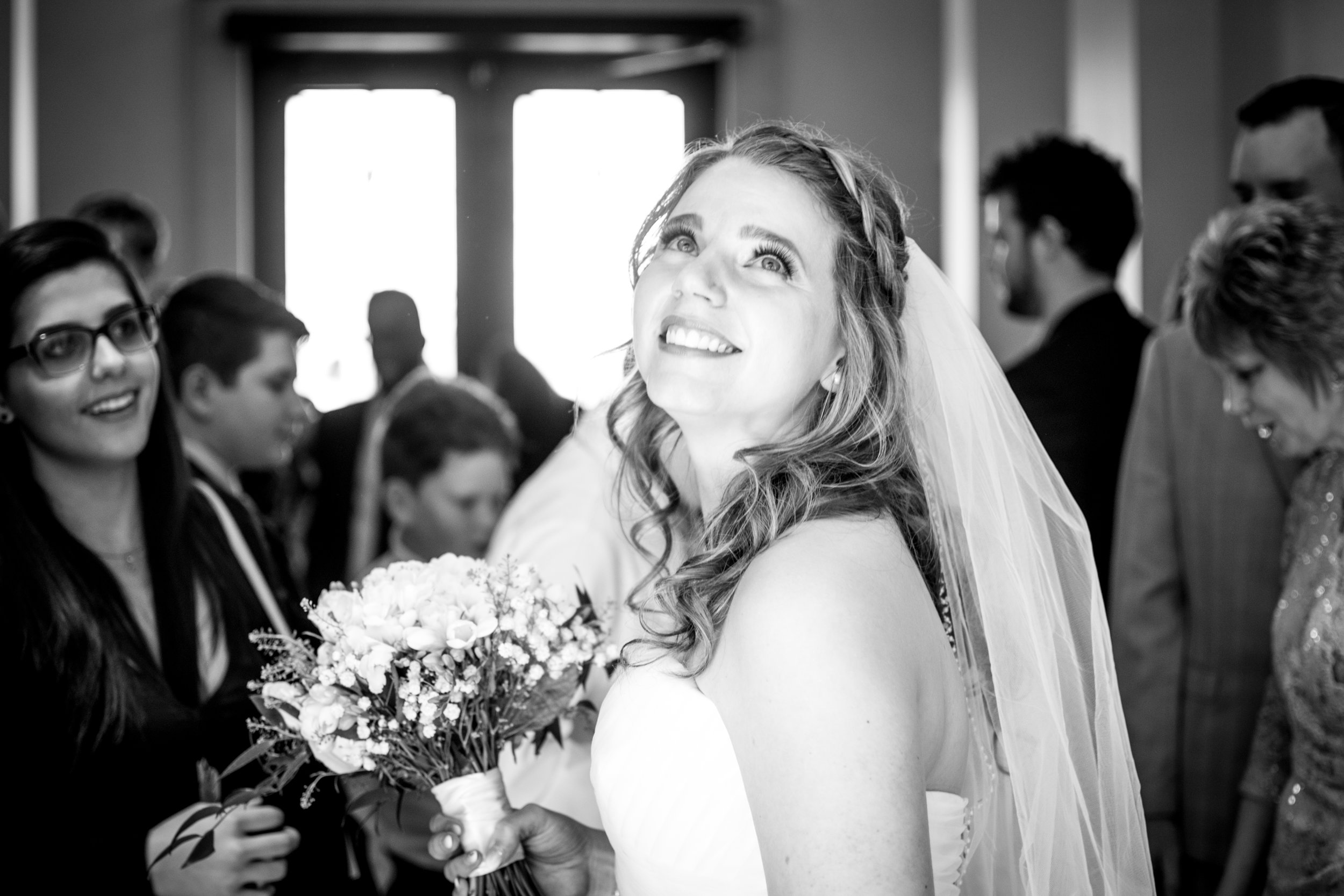 Happy Bride After Ceremony