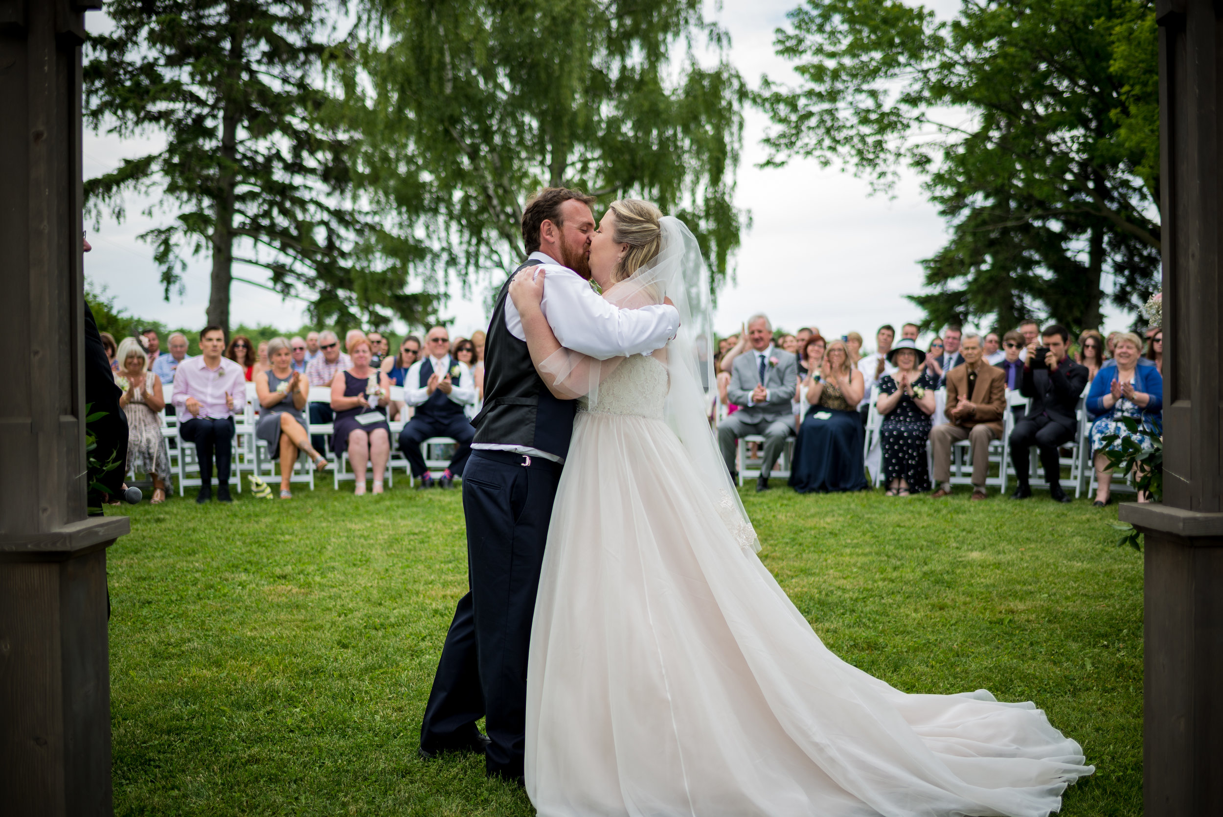 Kristin & Matt's First Kiss as Husband and Wife at Earth to Table: The Farm