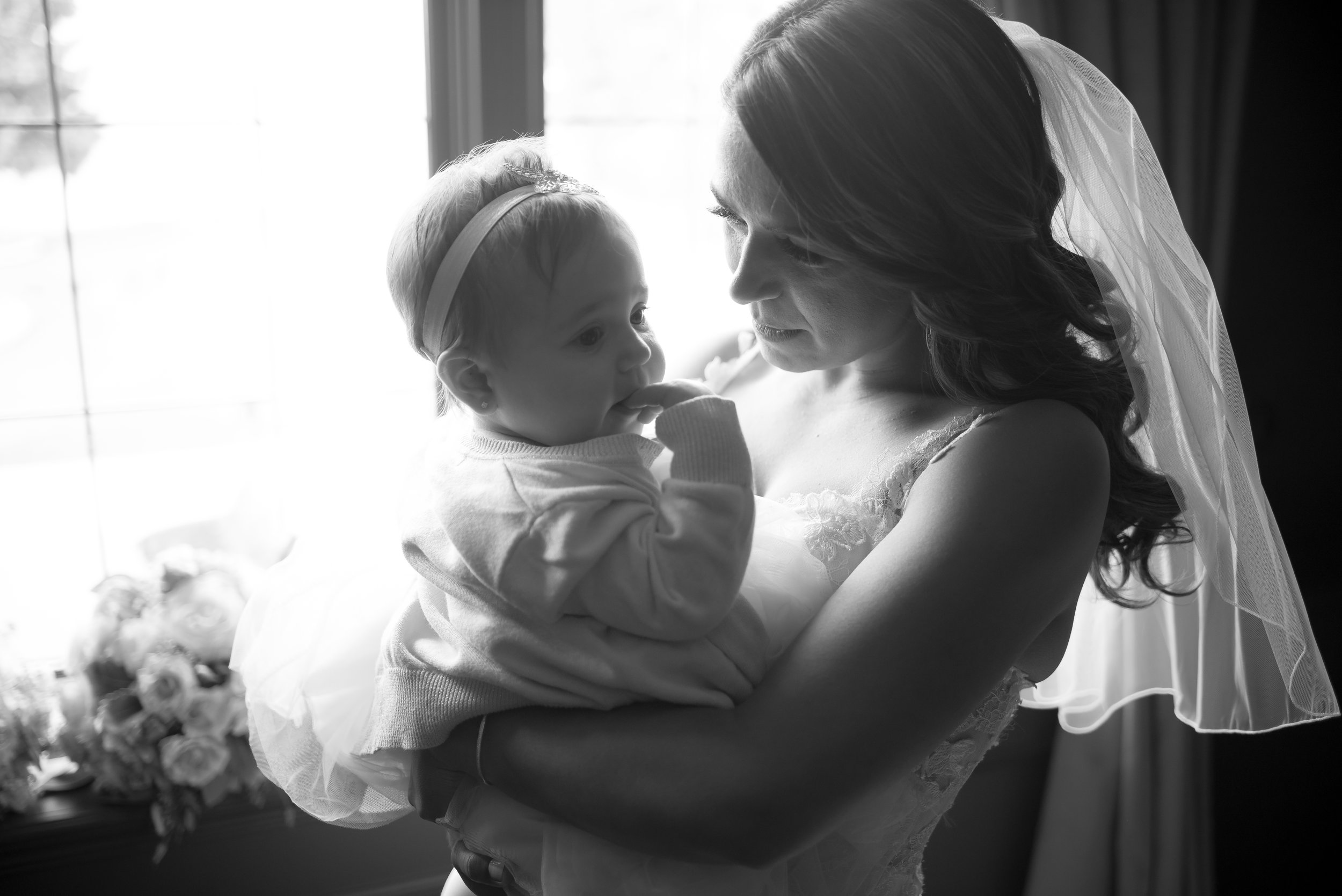 Bride and her daughter at Edgewater Manor