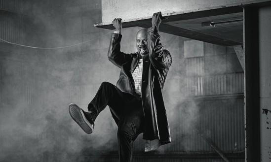 Coat, $7,550, and shirt, $665, both at Marni, L.A.; Drawstring jogger, $1,050, at Vince, The Grove; Gotham II sneakers, $345, at noahwaxman.com.
