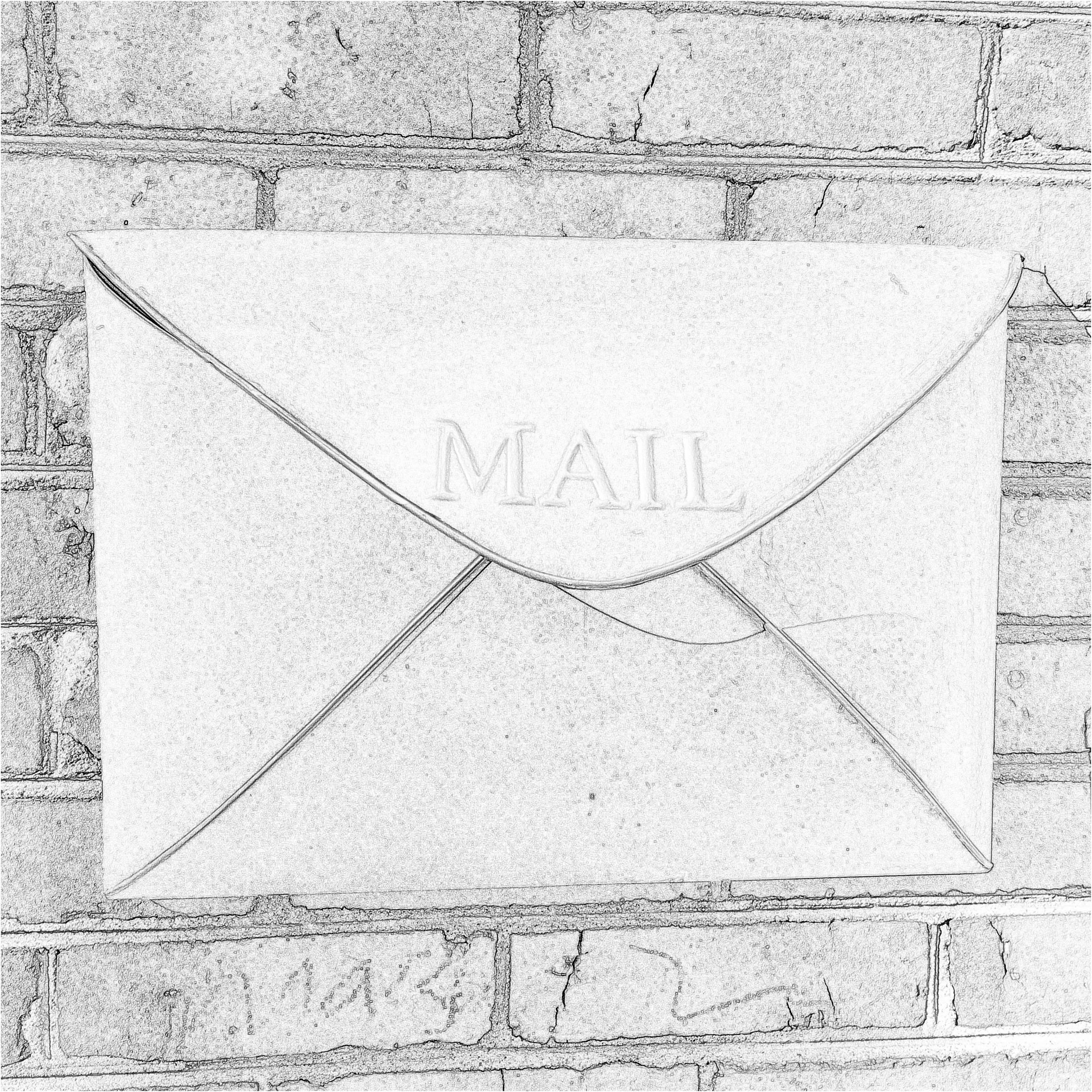 Mailbox in downtown Charlottesville, Virginia